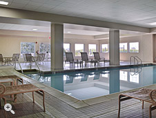Indoor Pool, Sanctuary • AmishView Inn, Lancaster County PA